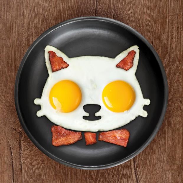 Formă pentru micul dejun Funny Side Up Cat