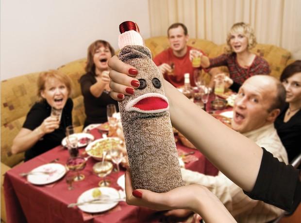 Husă pentru sticla de vin Wine Monkey